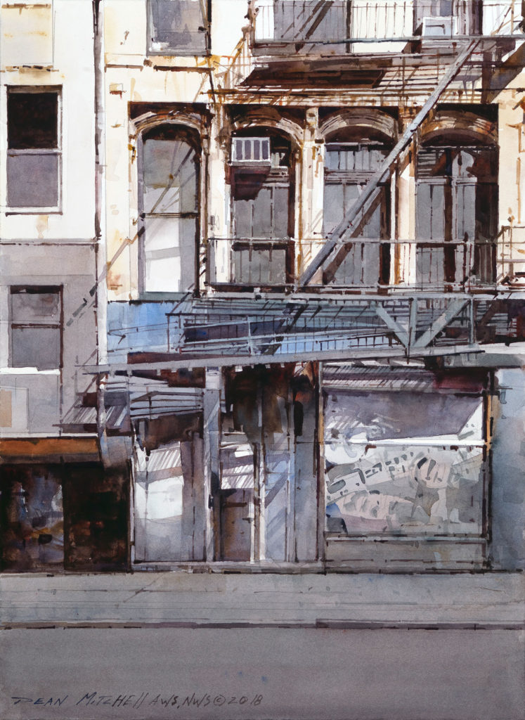 """<strong style=""""color: red;"""">SOLD</strong>  Urban Streets of New York 15"""" x 11"""" watercolor"""