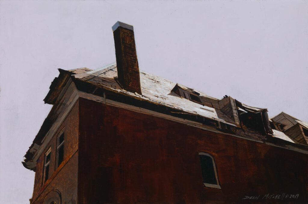"St. Louis Mansion 10"" x 15"" acrylic"