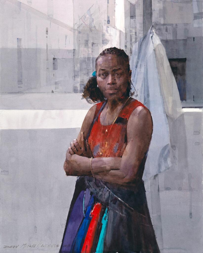 "Carolyn in New Orleans 20"" x 25"" watercolor"