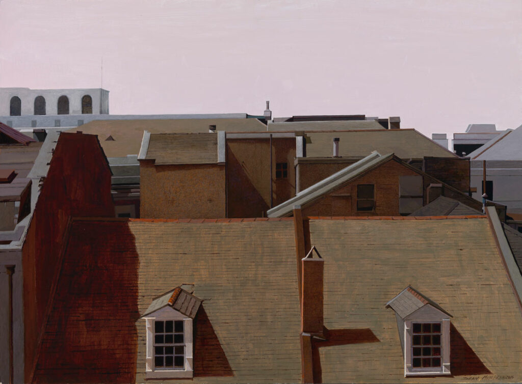 """New Orleans Rooftop 22"""" x 30"""" acrylic"""