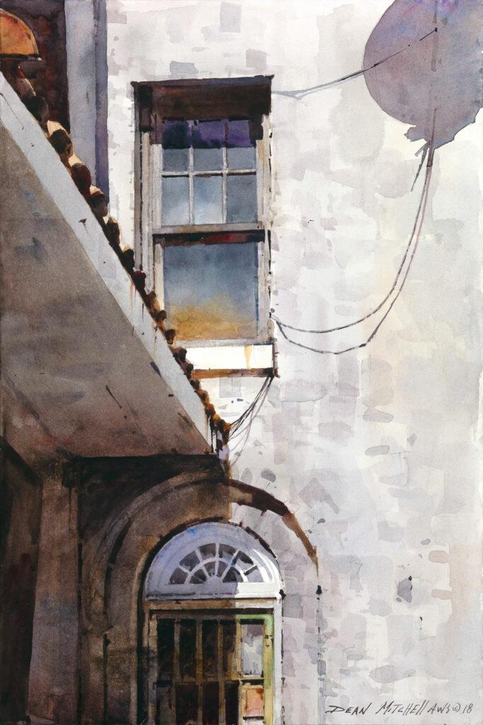 "Osage Shadows 15"" x 10"" watercolor"