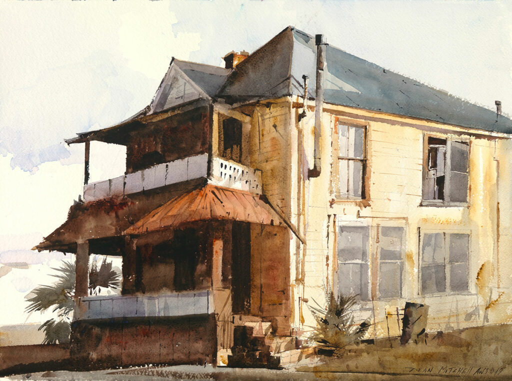 """<strong style=""""color: red;"""">SOLD</strong> Jackson House18"""" x 24"""" watercolor"""