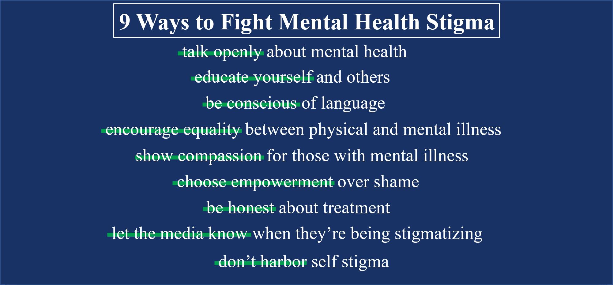 9 ways...stigma