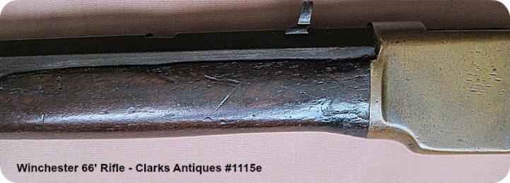 Pomel wear on Winchester 1866 Henry Marked Rifle