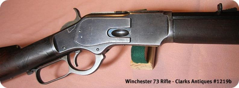 Right side of frame for Winchester 1873 Rifle 38 Caliber