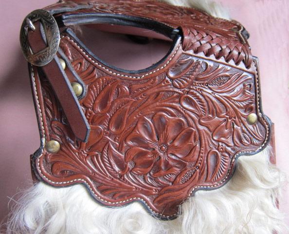 Angora Pommel Bags - Expertly hand tooled