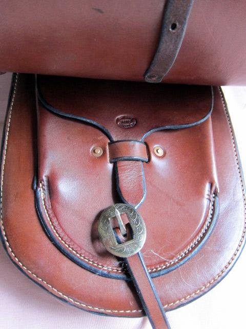 Angora Pommel Bags - Flap Covered Pocket on left side