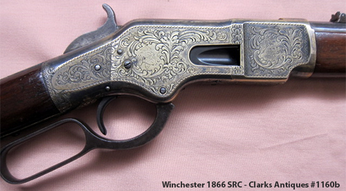 Engraved Winchester 1866 SRC - Right side