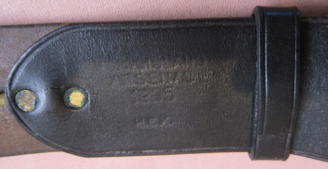 "Colt SAA 7-1/2"" Army Rig - Belt Marking"