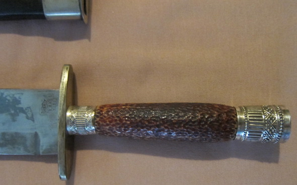 Stage handle with German Silver Mounts