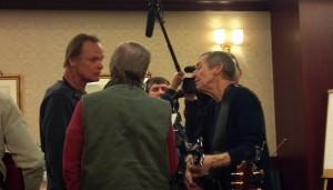 Harmonies (L to R) Jonathan Edwards, Dean Adrien and Eric Lilliequist.