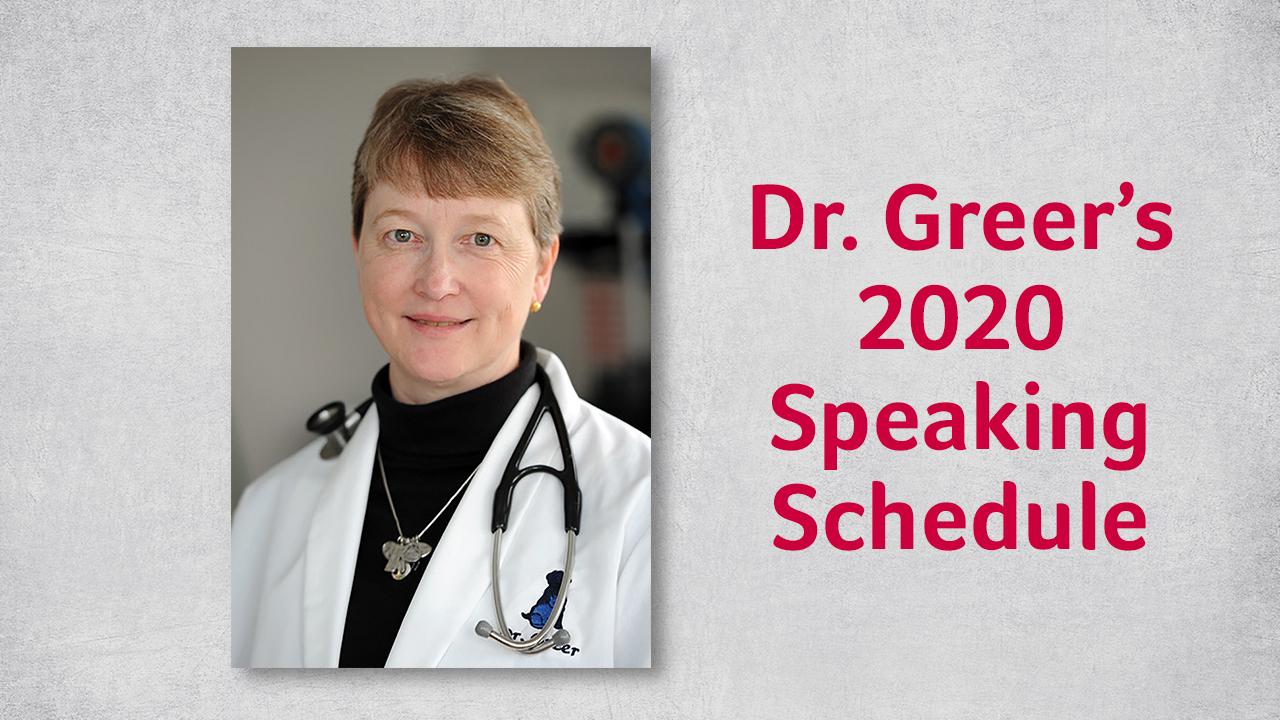 Dr. Greer's Speaking Schedule