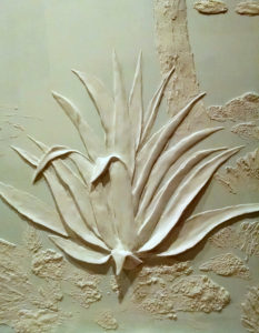 Detail of seascape bas-relief