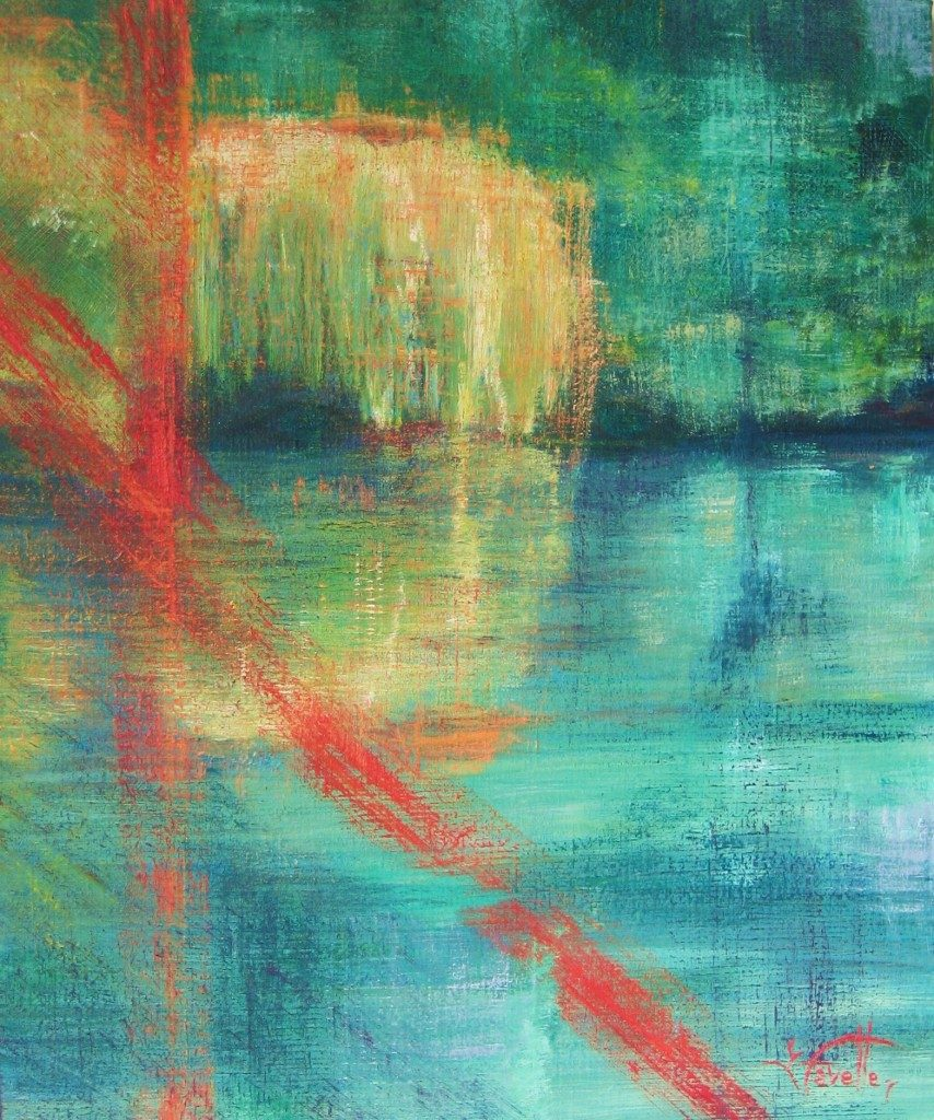 """Lady of the lake 24"""" X 20"""" Acrylic on canvas"""