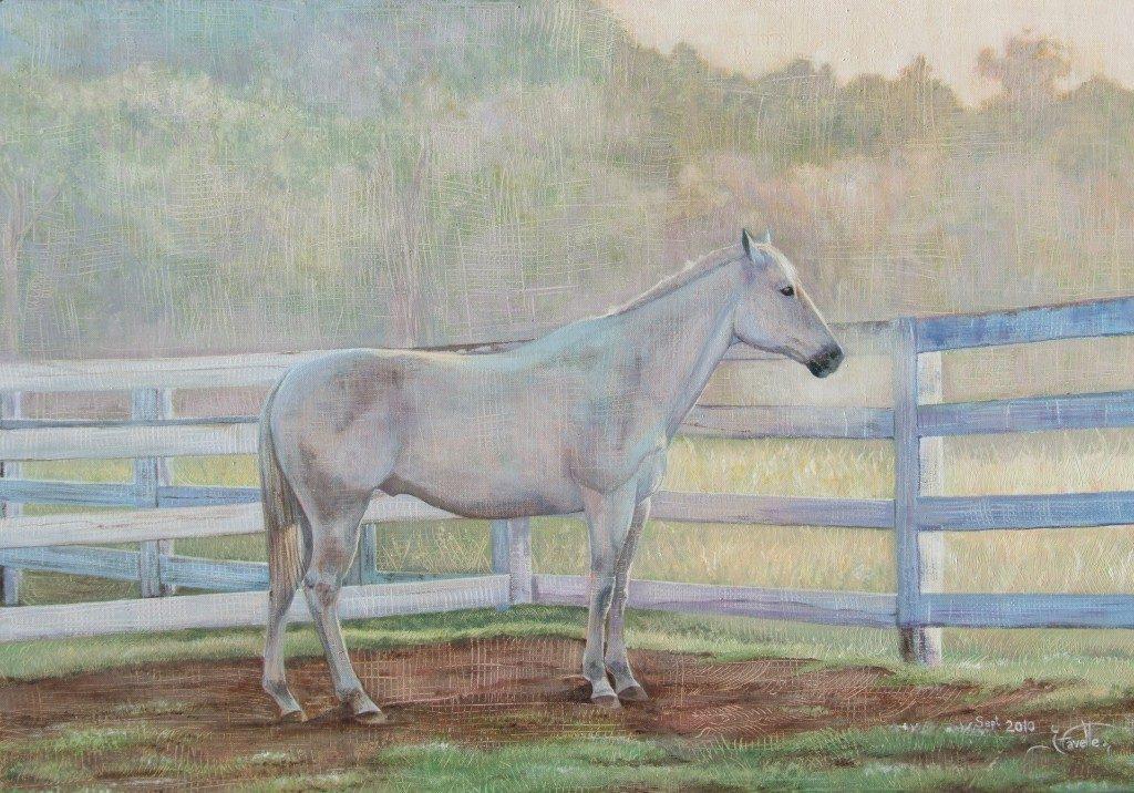 "Jack at dawn 20""x30"" Acrylic on canvas"
