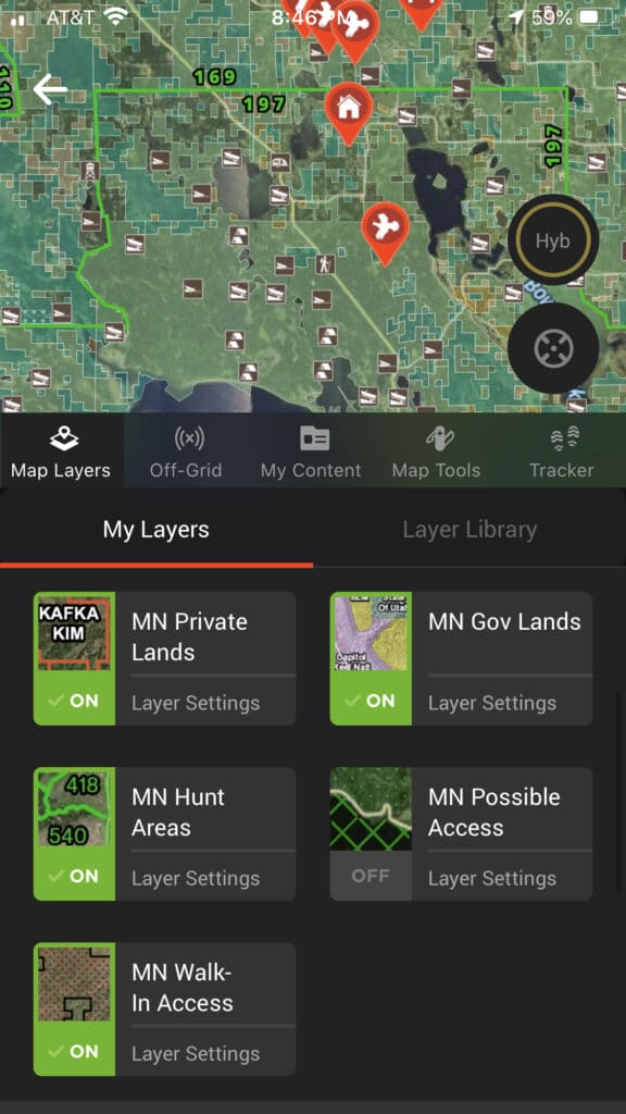 onX Hunt Map Layers