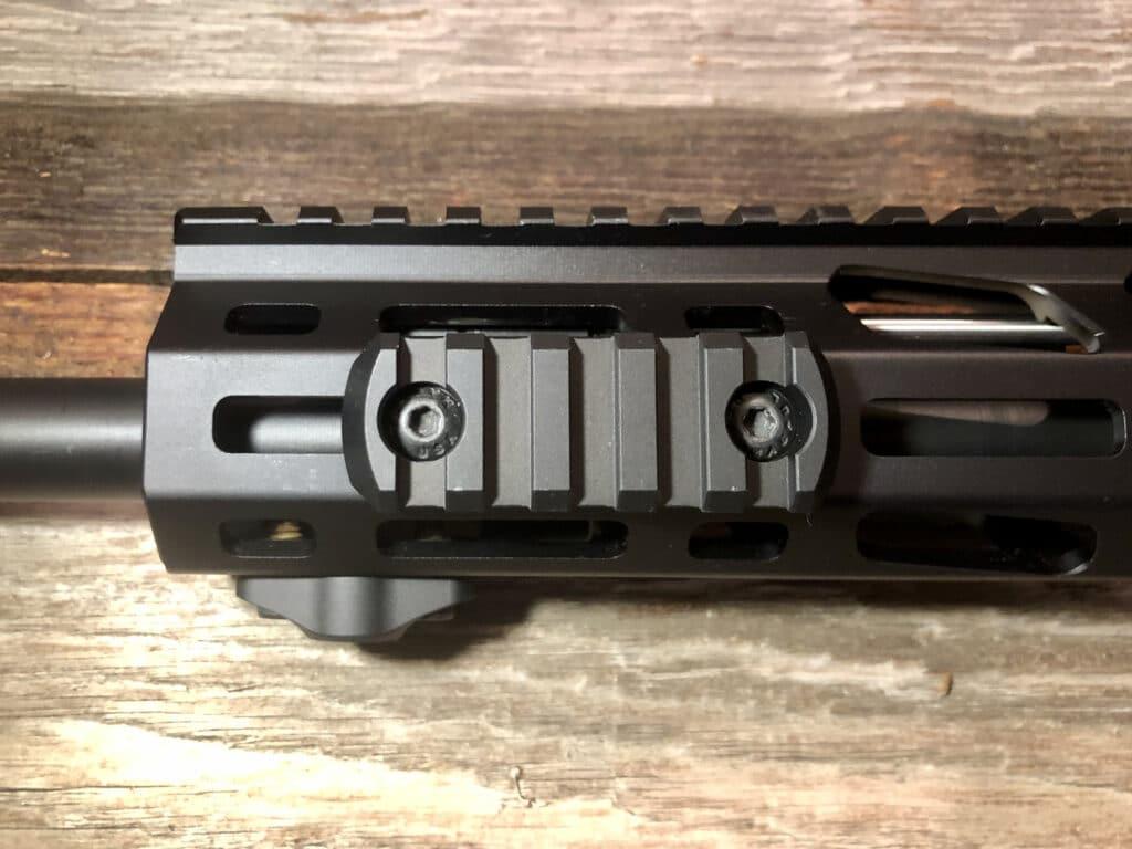 an ar-15 accessory rail