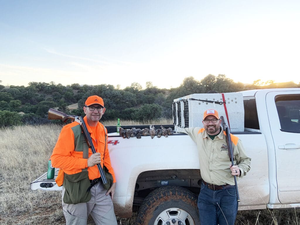 Matt Kucharski and Bob St Pierre from Pheasants Forever and Quil Forever