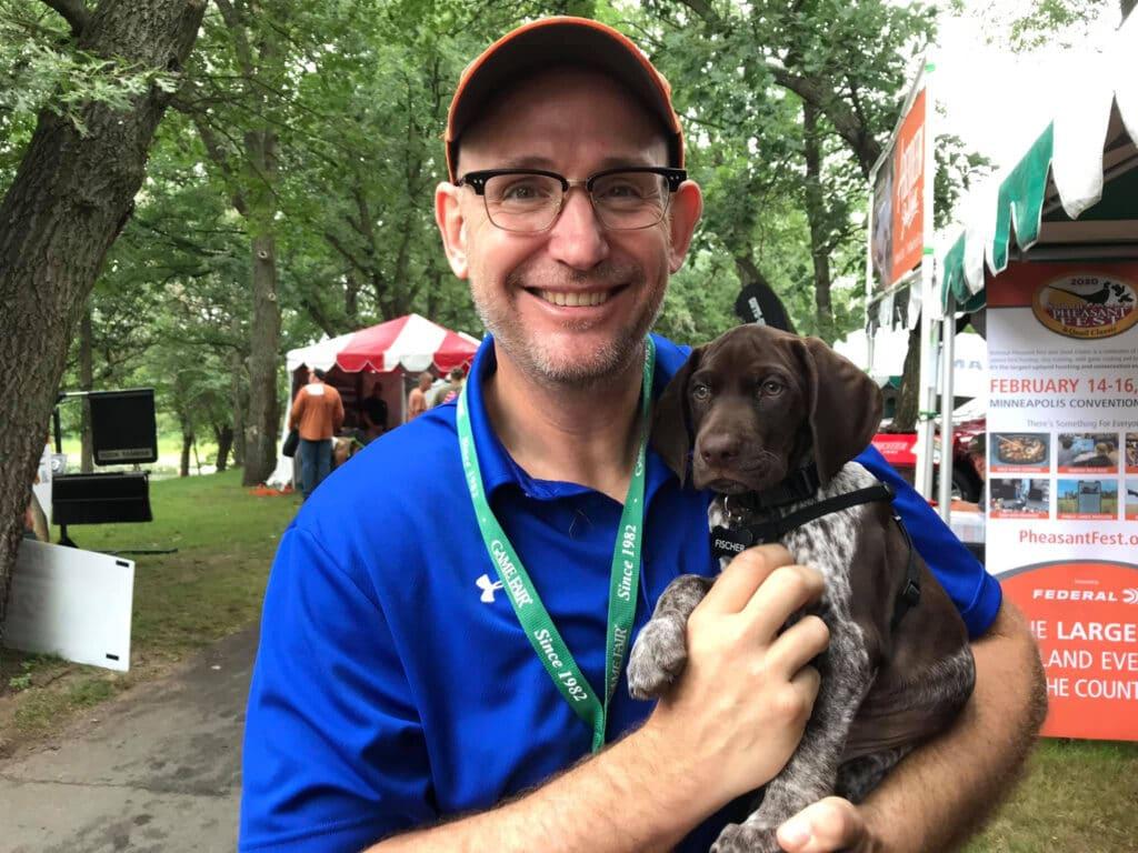 Matt Kucharski and GSP Pup