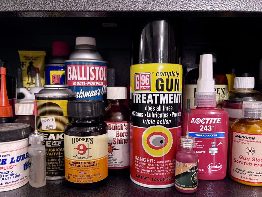 gun cleaning chemicals and solvents