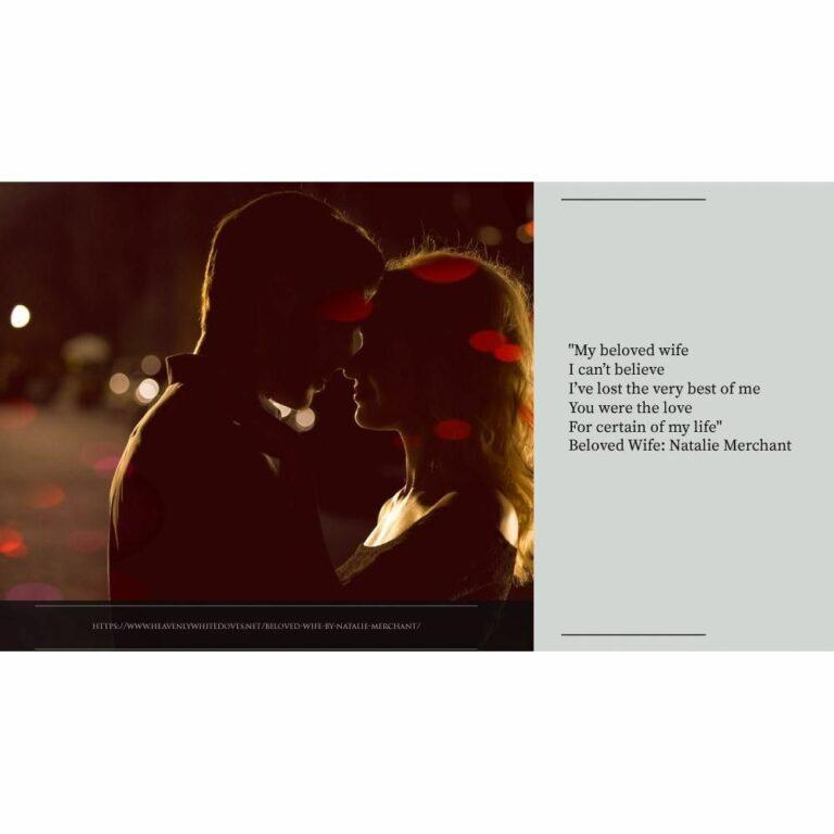 Beloved Wife by Natalie Merchant