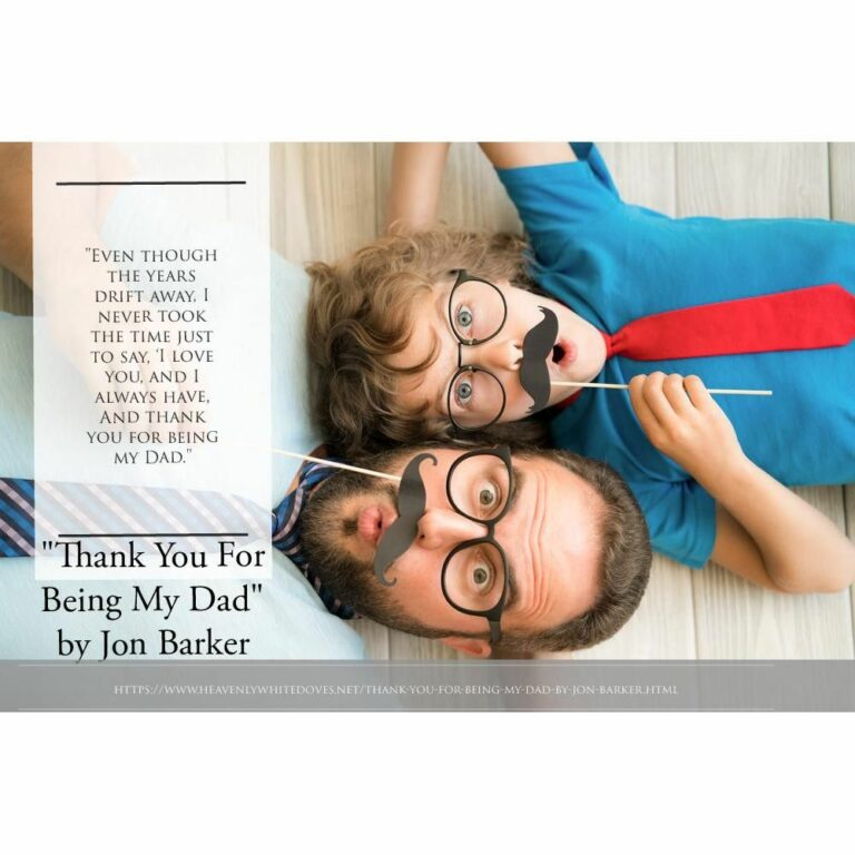 Thank You For Being My Dad by Jon Barker