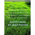 Annie's Song by John Denver