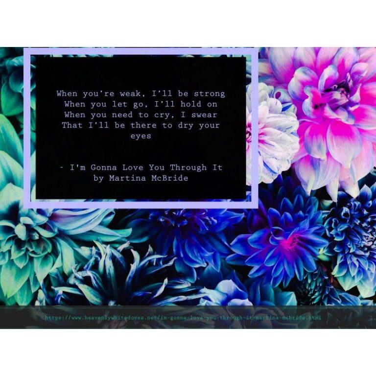 I'm Gonna Love You Through It by Martina McBride