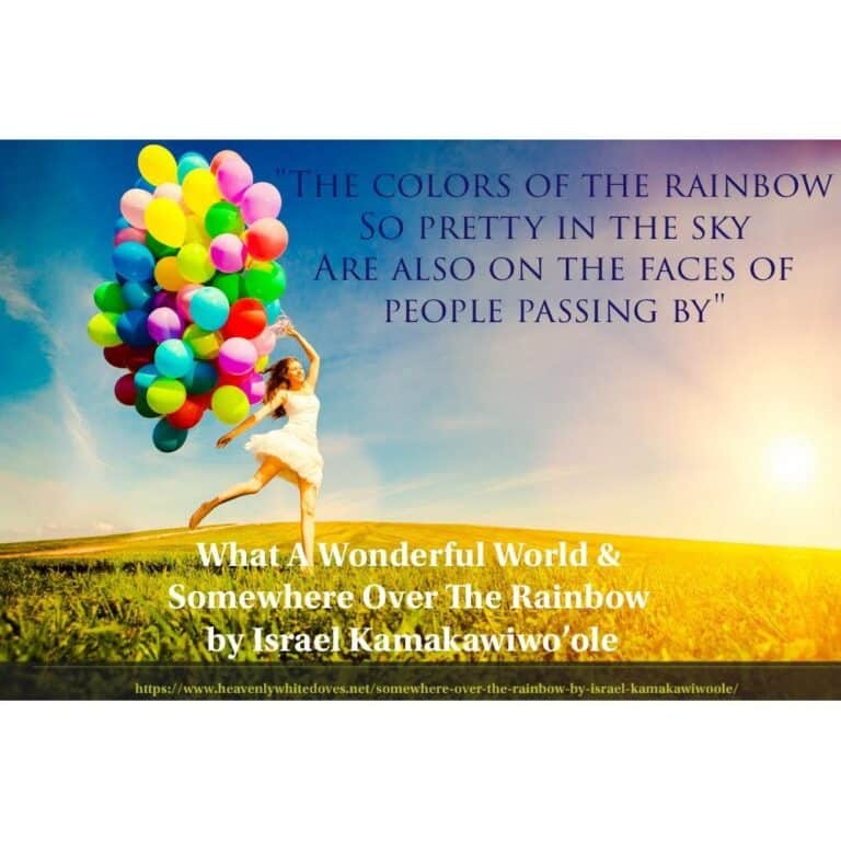 What A Wonderful World and Somewhere Over The Rainbow by Israel Kamakawiwo'ole
