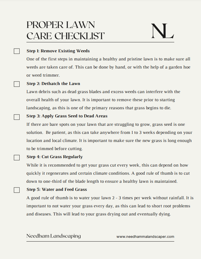 Lawn Care Checklist for at Home Landscaping