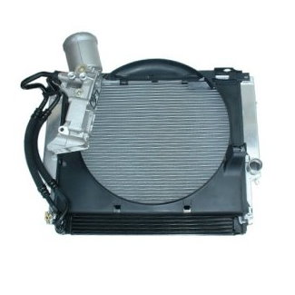 BMW E36 Z3 Aluminum Radiator with Integrated Oil Cooler Kit