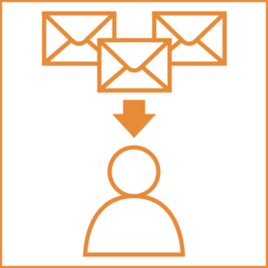many to one email icon