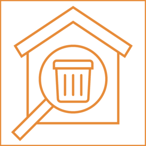company garbage indicator icon
