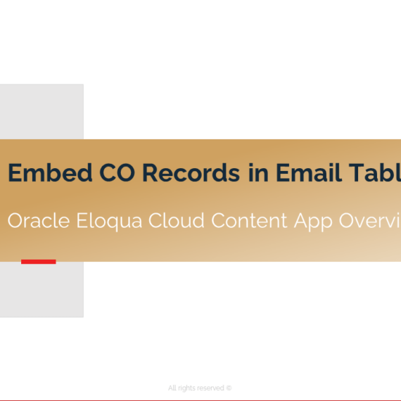 Introducing the Embed CO Records in Email Table Cloud App 1