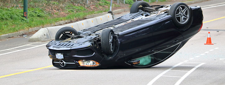 What are Rollover car accidents
