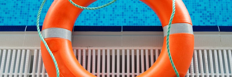 Swimming pool accident