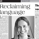 Reclaiming Language by THE SUNDAY NEWS, PAKISTAN