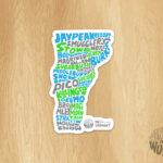 Ski Vermont Sticker