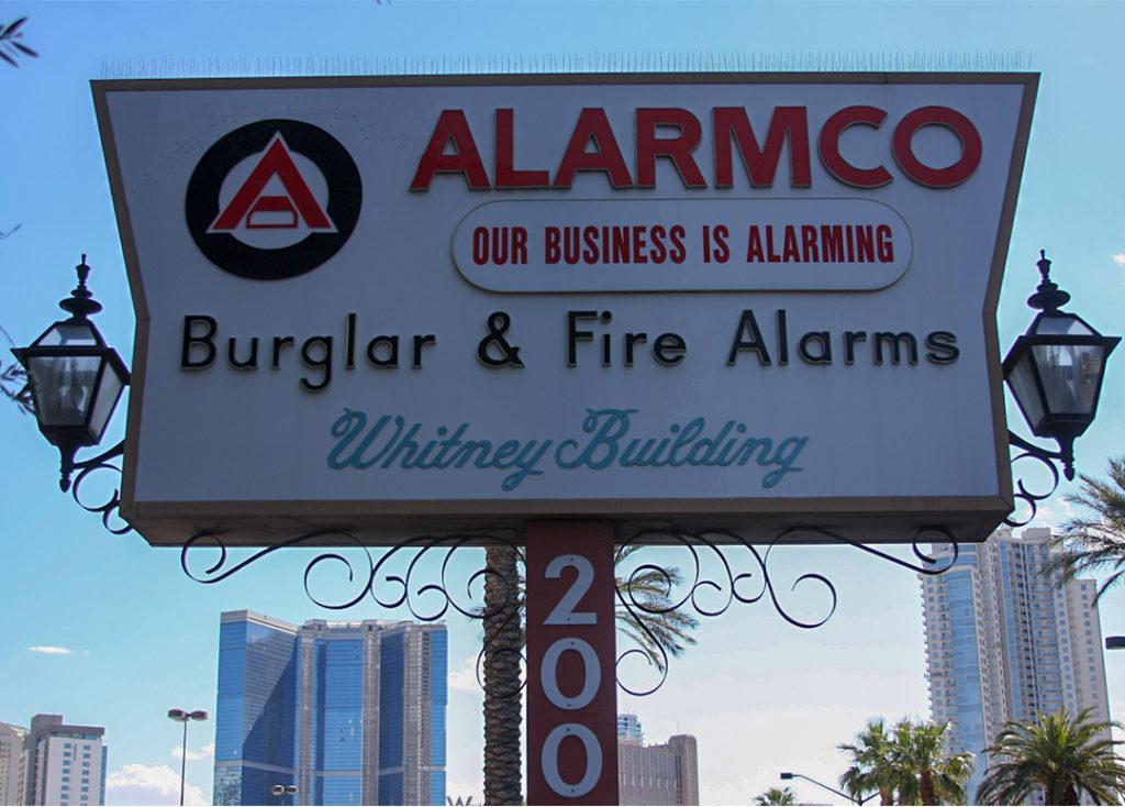 alarmco outdoor sign
