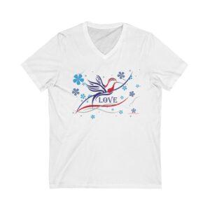 Hummingbird Love - V-Tee, Eyeshawm Design