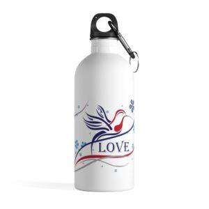 Hummingbird Love - Stainless Steel Water Bottle
