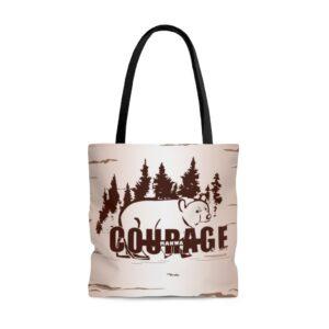 Makwa - Bear Courage - AOP Tote Bag