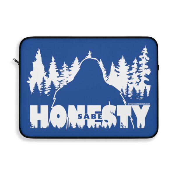 Sabe Bigfoot Honesty - Laptop Sleeve Blue