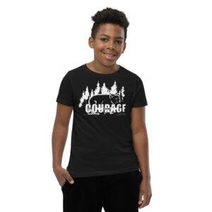Makwa Bear Courage - Youth Short Sleeve T-Shirt