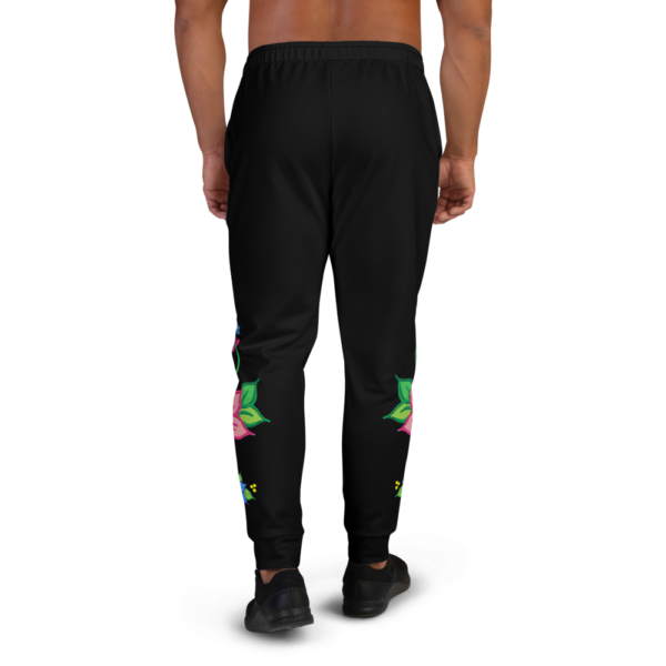 Men's Joggers with Red & Blue Ojibwe Floral Design