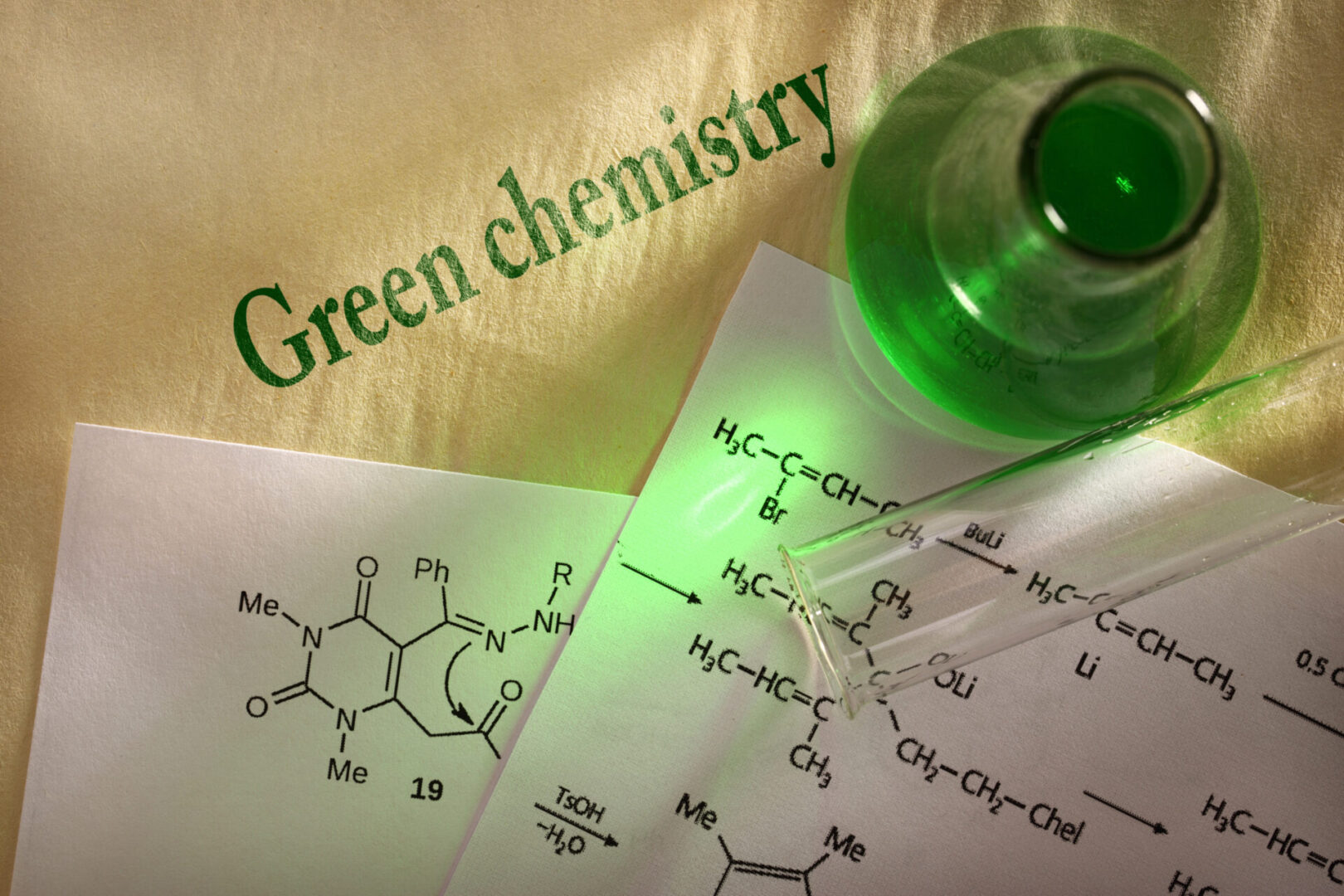 Green,Chemistry,With,Reaction,Formula
