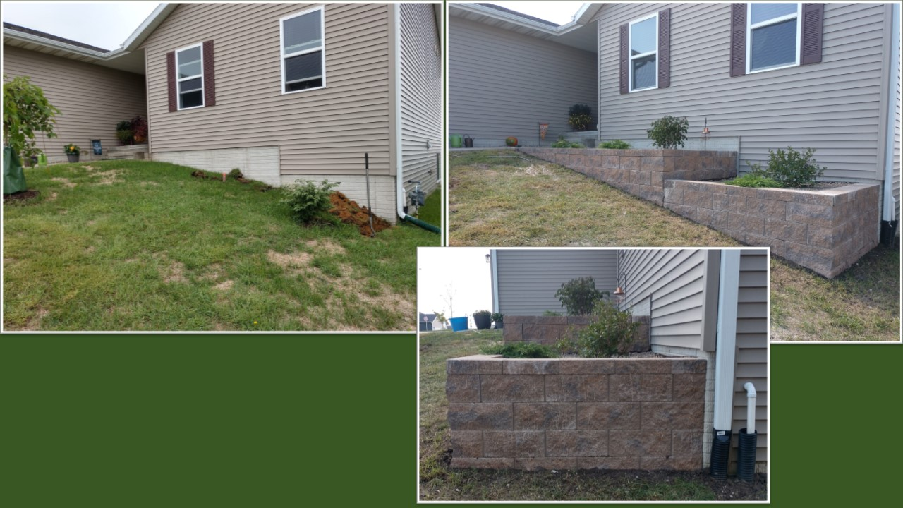 Front Retaining Wall Planting
