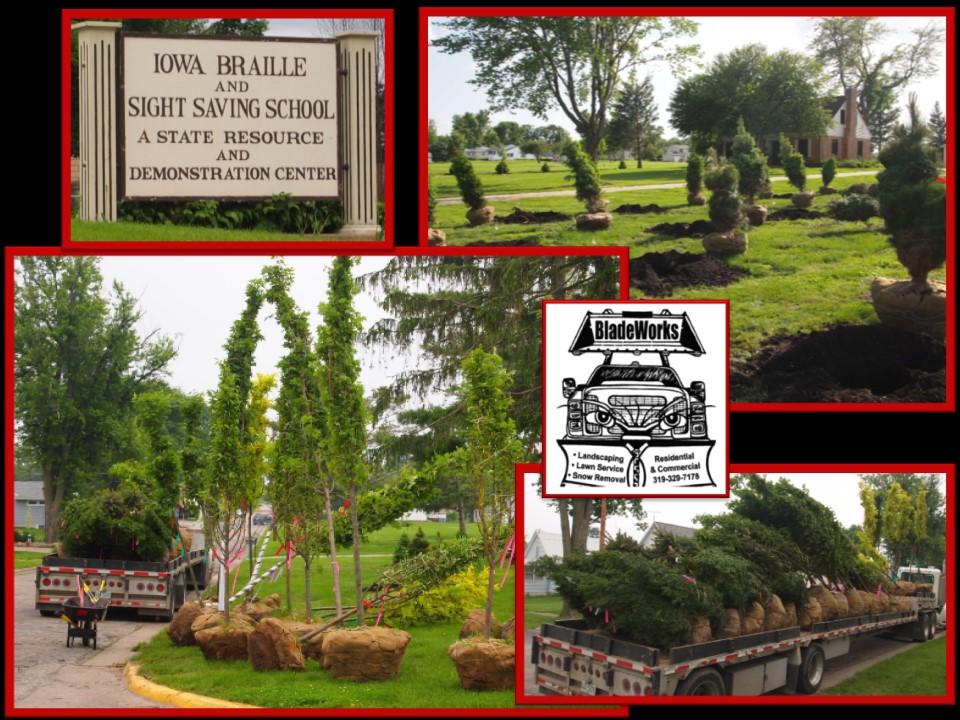 Tree Planting Vinton School of the Blind