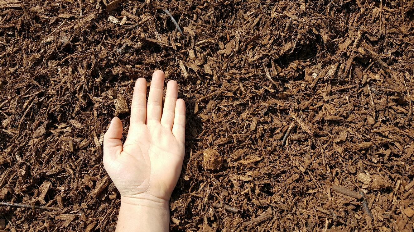 Brown Mulch Hand