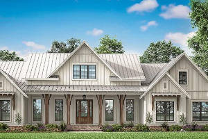 Modern Farmhouse House Plan 041-00206